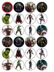 24 x Avengers Assemble Edible Wafer Paper Cup Cake Top Toppers